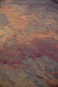 Aerial view of AZ desert from 38,000 feet