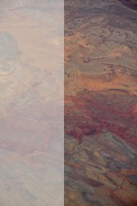 Comparison of original v Photoshopped aerial image of AZ desert