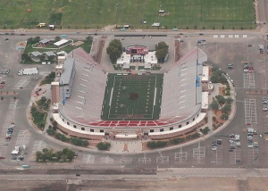 Aerial view of UNLV's football stadium, Las Vegas NV