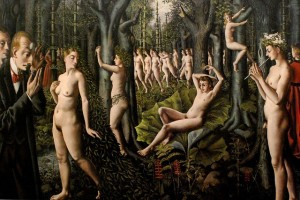 Photo of surrealist painting by Paul Delvaux