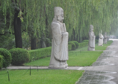 Statues lining the Sacred Way, Ming Tombs