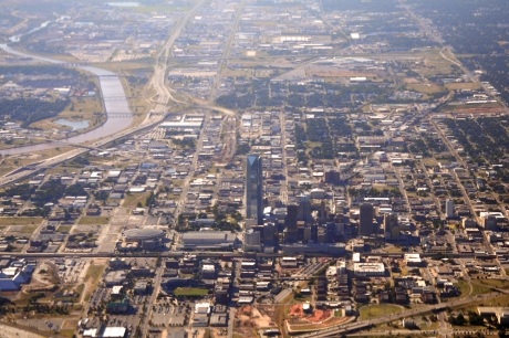 Aerial view of Oklahoma City