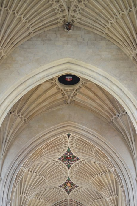 Fan vaulting in the nave of Bath Abbey, Bath