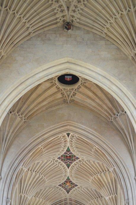 Fan vaulting in the nave of Bath Abbey, Bath
