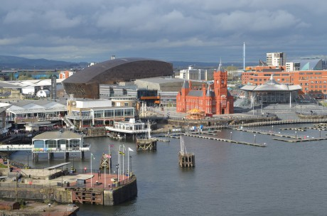 Cardiff Bay, viewed from the St David's hotel