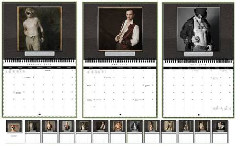 Gentlemen of Steampunk calendar interior