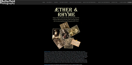 """Aether & Rhyme"" book at www.ebutterfieldphotography.com"